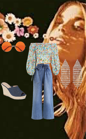 flower top outfit
