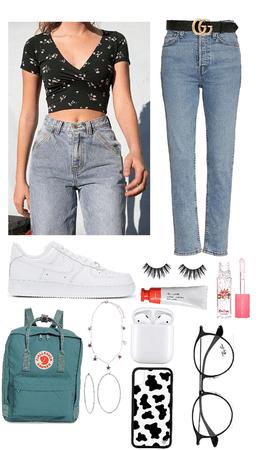 basic everyday effort-no effort outfit