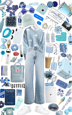 Shy/sweet girl w/ a blue aesthetic