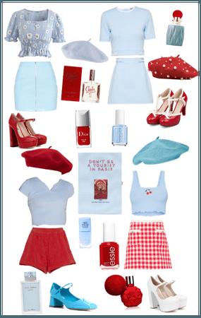 Blue & Red Girls