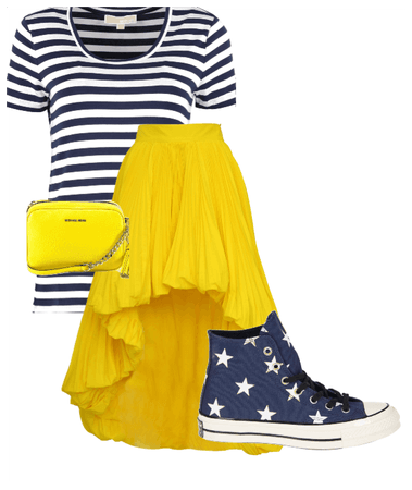 gold, stars, and stripes