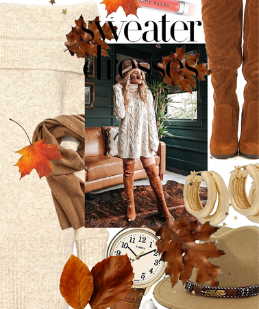 the sweater dress \ FALL FAVORITE new challenge