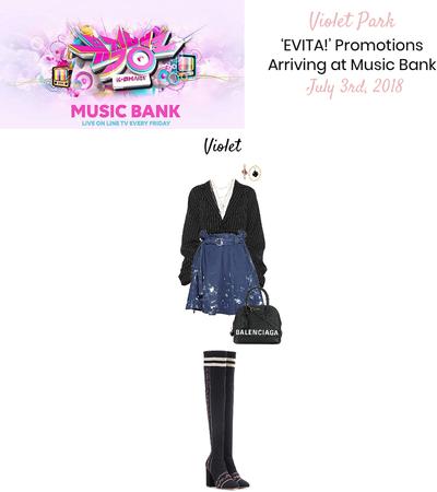 VioletPark _ 'EVITA!' Arriving at Music Bank