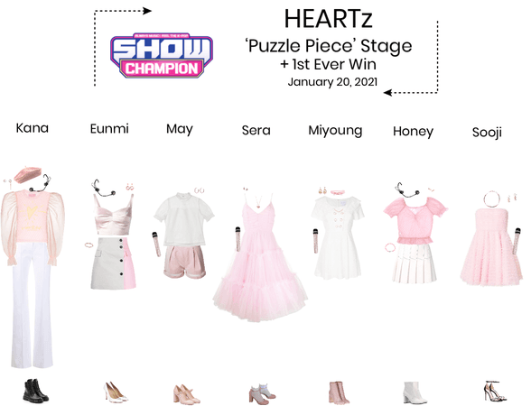 HEARTz//'Puzzle Piece' Show Champion Stage + First Win