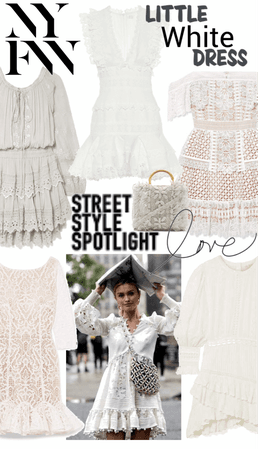 NYFW Street Style - Little White Dress LWD