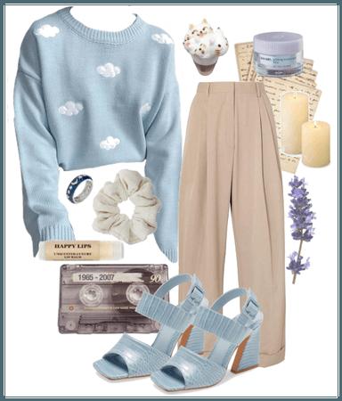 blue cloud sweater
