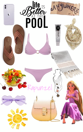 Rapunzel- Pool Party