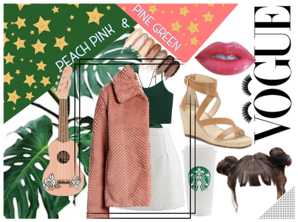 Peach Pink and Pine Green (Challenge Submission)
