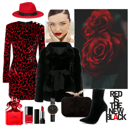 Red and black -with Fax