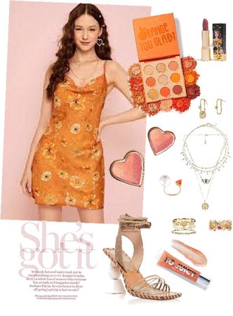 Summertime Look in Orange 🍊