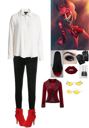 Alastor Hazbin Hotel Inspired outfit