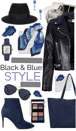 Black and Blue Style