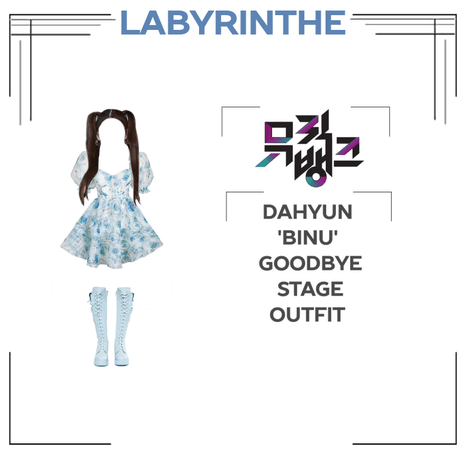 Dahyun binu goodbye stage outfit
