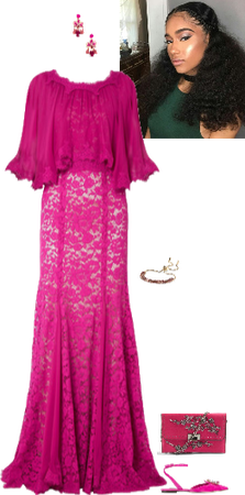 magenta ball gown (Aoife)