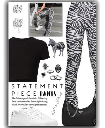 statement pants - zebra 🦓