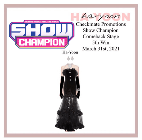 /HA-YOON/ Chess Palyer Show Champion Comeback Stage