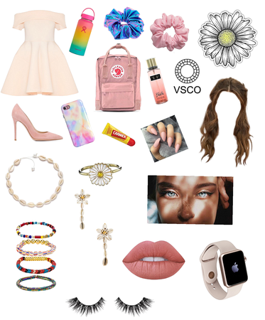 SoftGirl And VSCOGirl Combinated Outfit