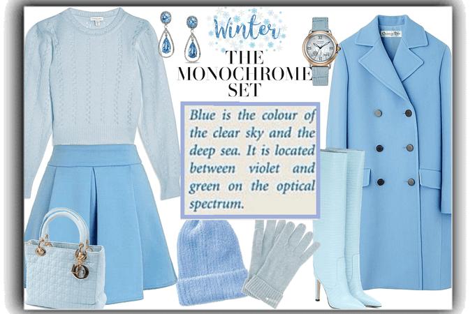winter monochrome set- blue