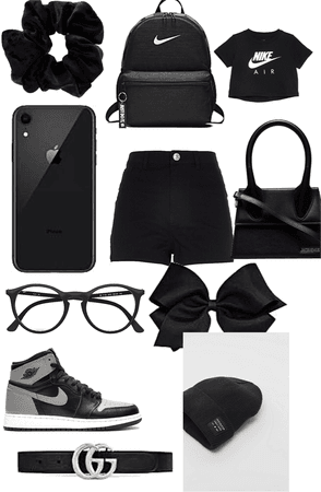 a casual black outfit for kids