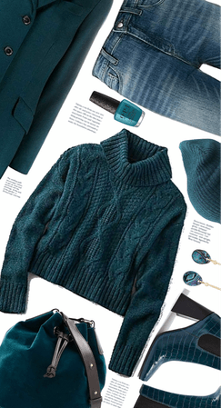 Blue Jeans And Teal