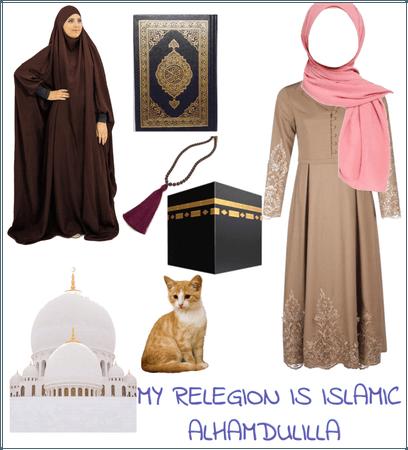 My religion is @islamic