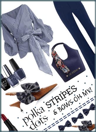 Polka Dots Stripes & Bows Oh My