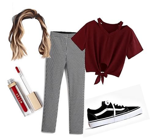 my red,black, white outfit