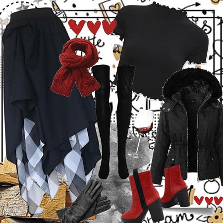style with margareth skirt by chanatta