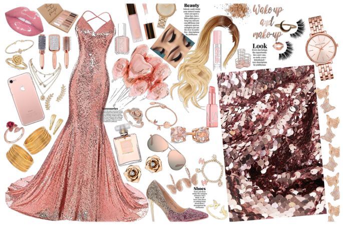 Rose Gold Prom Outfit