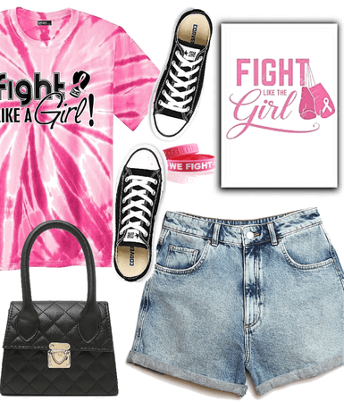 Fight like a girl. Breast cancer awareness