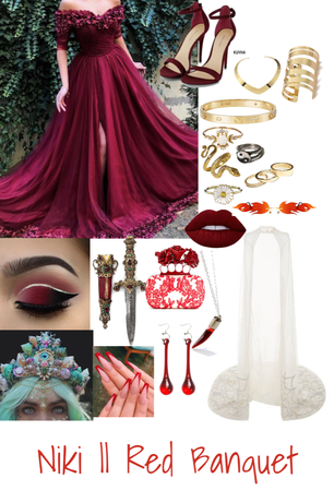 Niki Nihachu Red Banquet Inspired Outfit
