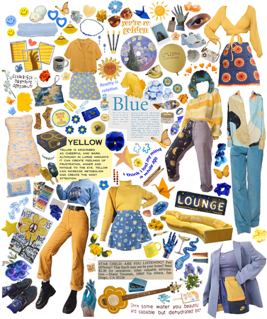 like yellow does on blue