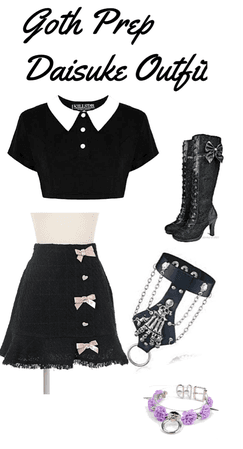 Goth Prep Daisuke Outfit