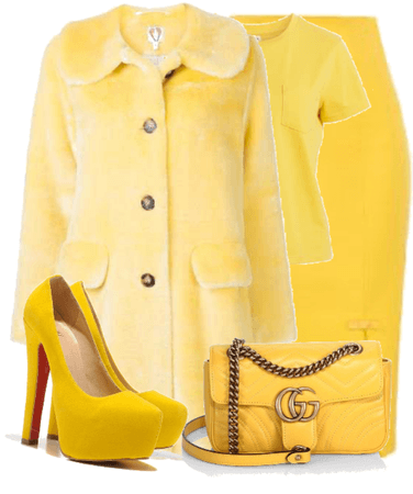 Yellow. also go follow my friend ANNABELLm on shoplook