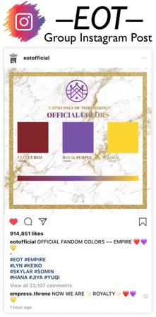 EOT (내일의황후) Fandom Colors Announcement Post