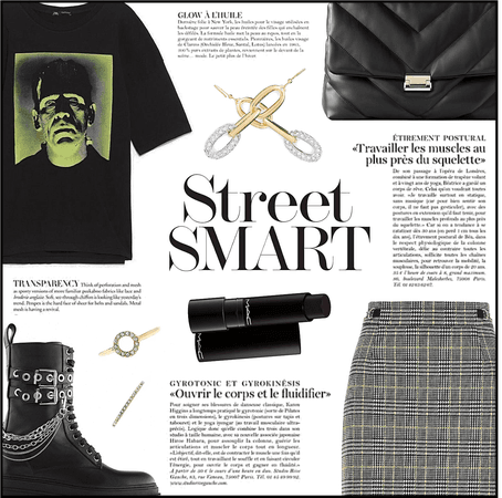 Graphic Tee And Plaid Skirt - Contest
