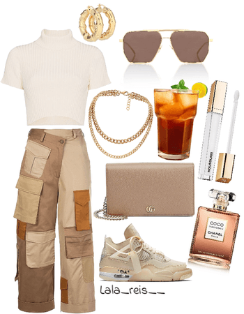 Beige Edgy Outfit