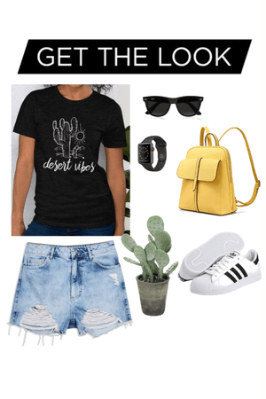 Graphic Tee Desert Vibes Outfit