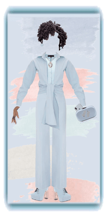 Sky Blue Pisces Outfit