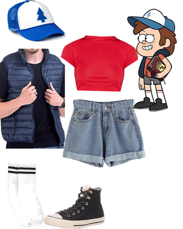 Outfit inspired by Dipper Pines from Gravity Falls