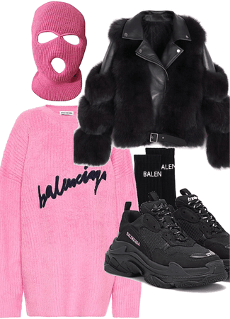 balenciaga pink sweater
