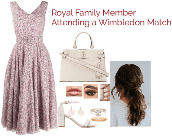 Royal Family Member Attending a Wimbledon Match