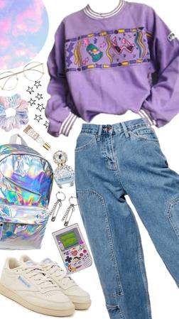 Retro purple outfit