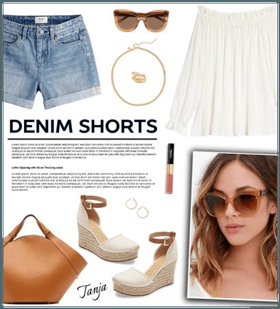 How to Wear Denim Shorts