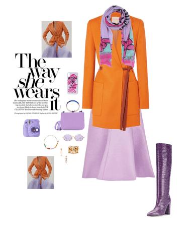 Lilac & Orange