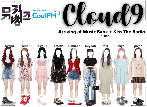 Cloud9 (구름아홉) | Arriving at Music Bank