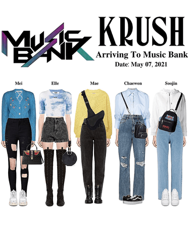 KRUSH Music Bank Arriving To Music Bank MAGO Promotion