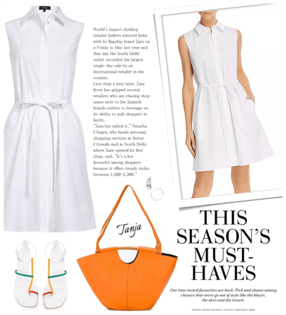 Classic- White Shirt Dress
