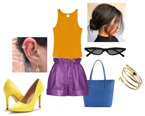 Tetradic color outfit