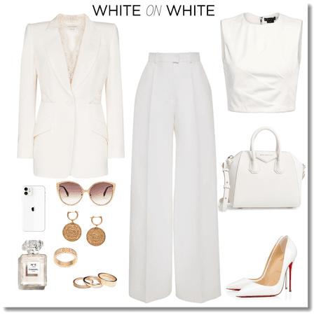 Boss lady on white